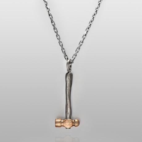 The Hammer // Sterling Silver + Brass