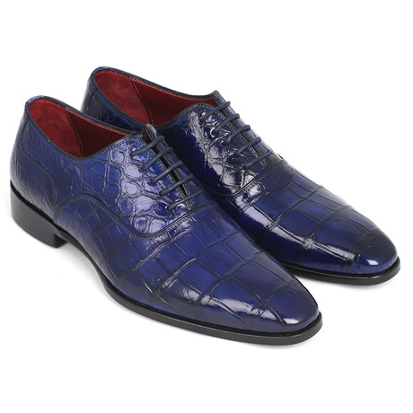 Genuine Crocodile Oxfords // Blue (Euro: 38)