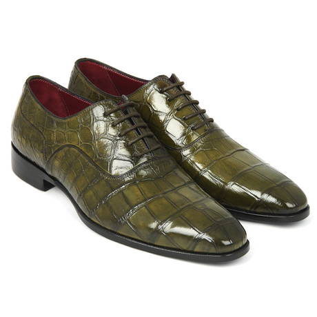Genuine Crocodile Oxfords // Green (Euro: 38)