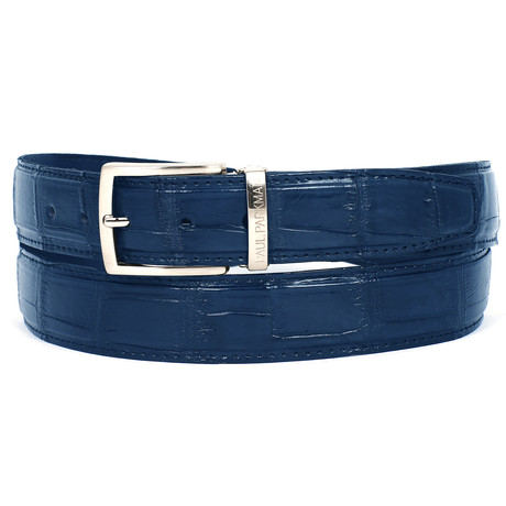 Genuine Crocodile Belt // Blue (S)