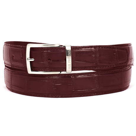 Genuine Crocodile Belt // Bordeaux (S)