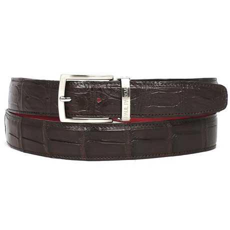 Genuine Crocodile Belt // Brown (S)