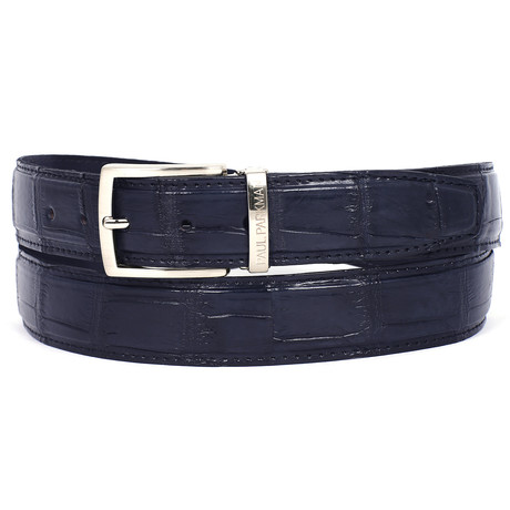 Genuine Crocodile Belt // Navy (S)