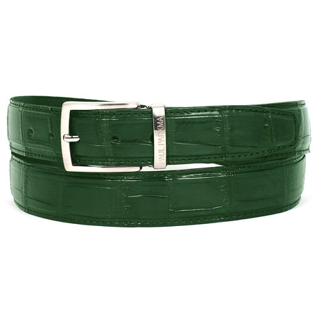 Genuine Crocodile Belt // Green (S)