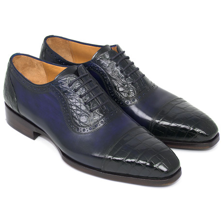 Genuine Crocodile + Calfskin Oxfords // Navy (Euro: 38)