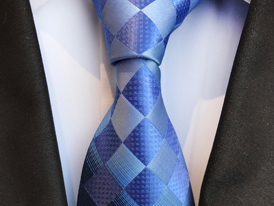 Photo of St. Lynn Bold Silk Ties Gruber Tie // Blue + Light Blue by Touch Of Modern