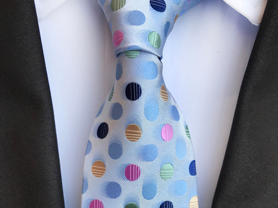 St Lynn Sophisticated Silk Ties Rieter Tie // Light Blue + Pink + Yellow by Touch Of Modern - Denver Outlet
