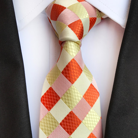 Egger Tie // Yellow + Orange + Pink