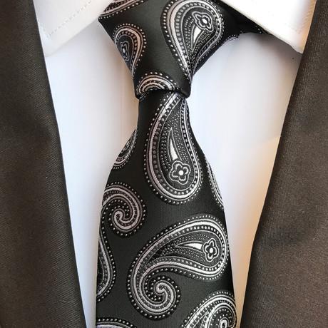 Schwarz Tie // Black + Silver