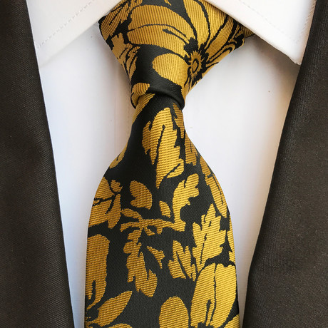 Ebner Tie // Black + Yellow