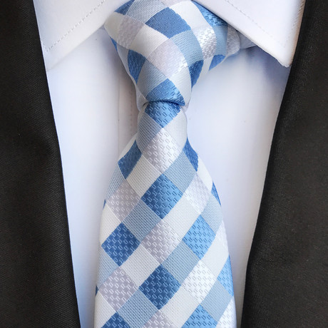 Jacobs Tie // Blue + White