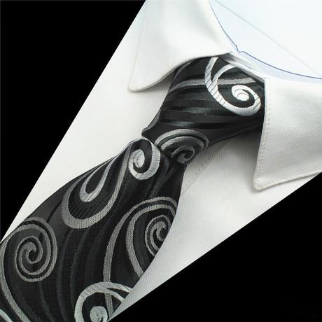 Mayer Tie // Black + Silver