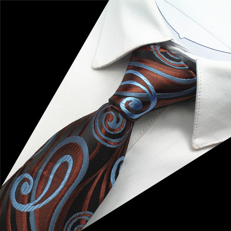 Wagner Tie // Brown + Blue