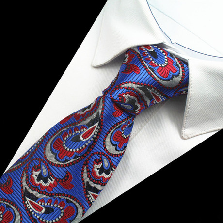 Hofer Tie // Blue + Red