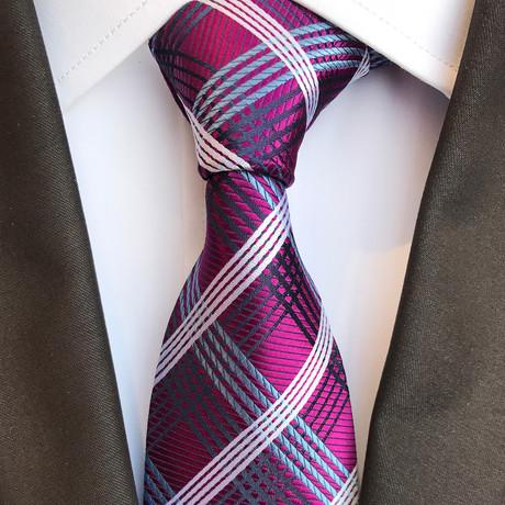 Eder Tie // Magenta + White