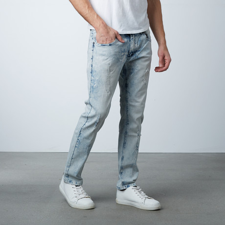 Bleach Splatter Jean // Light Blue (30WX32L)