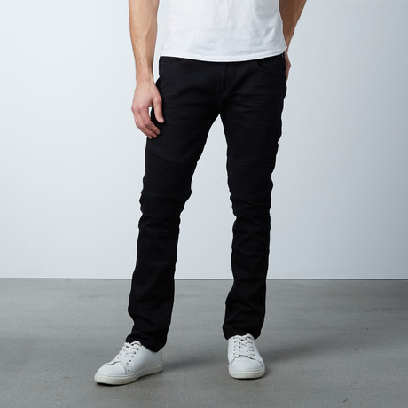 Stretch Moto Jean // Black (30WX32L)