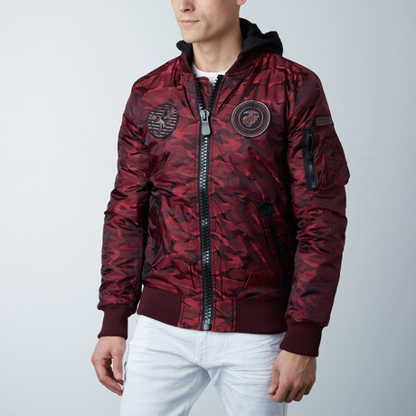 Fashion Bomber Jacket // Burgundy (S)