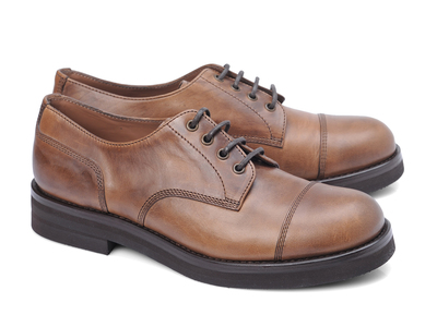 Photo of Brunello Cucinelli Exemplary Designer Footwear Romano Captoe Derby // Taupe (Euro: 40.5) by Touch Of Modern