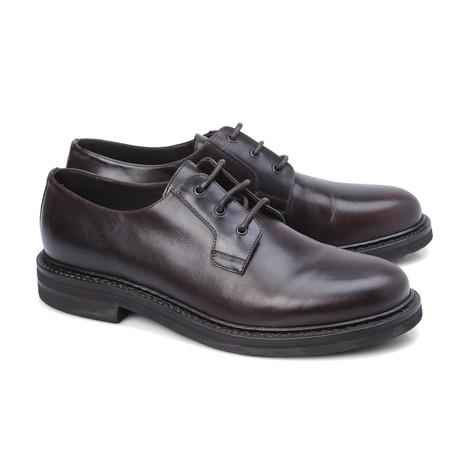 Colombo Plain Toe Derby // Black