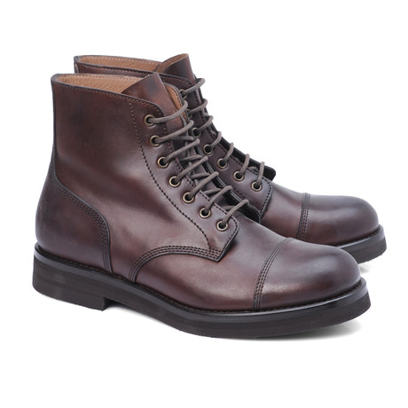 Marino Captoe Lace-Up Ankle Boot // Brown (Euro: 39)
