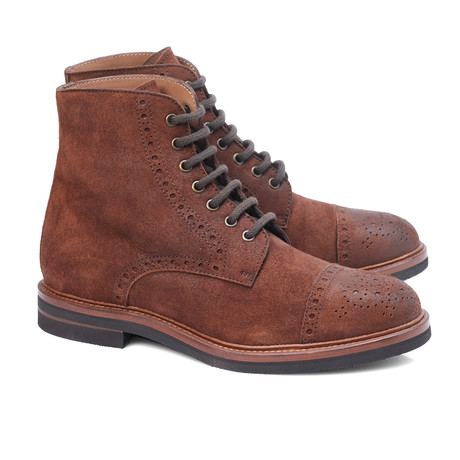 Bruno Captoe Lace-Up Ankle Boot // Cognac Suede (Euro: 39)
