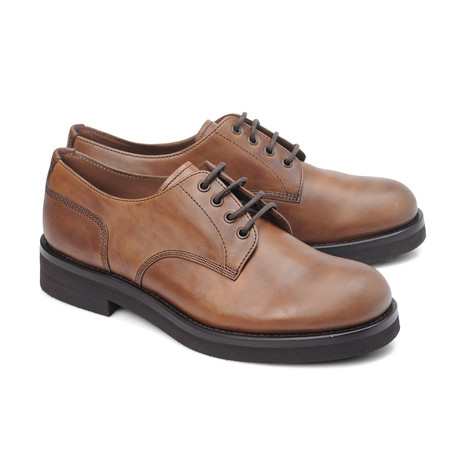 Lombardi Round Toe Derby // Taupe (Euro: 39)