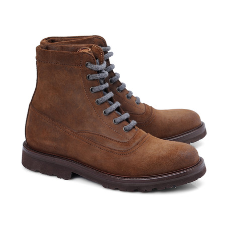 Trentino Plain Lace-Up Ankle Boot // Cognac (Euro: 39)