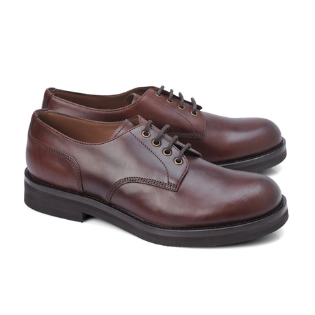 Udinese Plain Toe Derby // Burgundy Brown (Euro: 39)