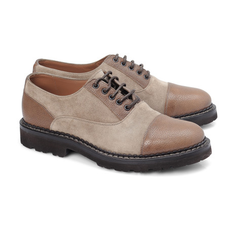Conti Mixed Texture Captoe Derby // Taupe (Euro: 42)
