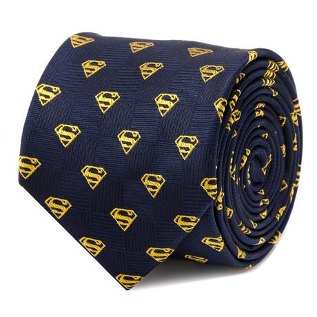 Superman Shield Navy Tie