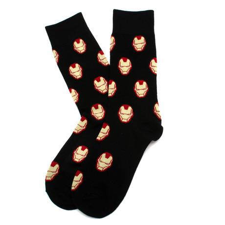 Iron Man Socks (Black)