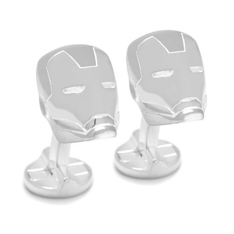 Sterling Silver 3D Iron Man Cufflinks