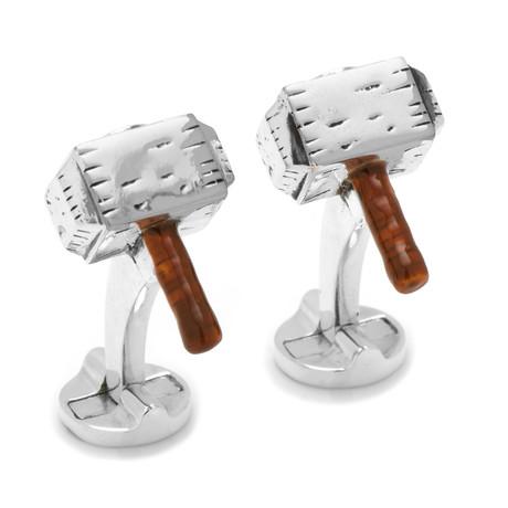 3D Thor Hammer Cufflinks
