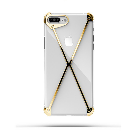 Radius // Minimalist Aluminum iPhone Case // Gold Plated