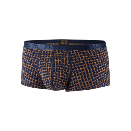 Brennen Trunk // Navy + Yellow Print (XS)