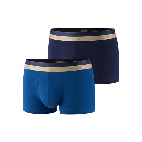 Alden Boxer Brief 2-Pack // Navy + Blue (XS)