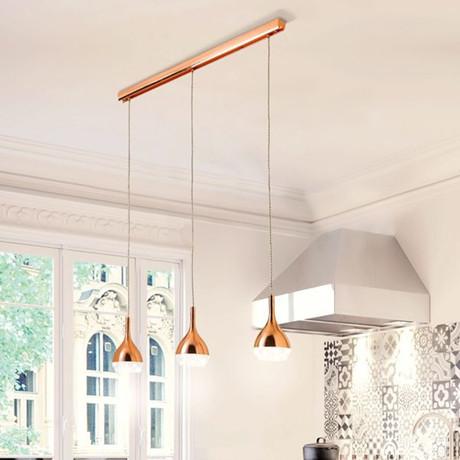 Kaluz Triple Kitchen Pendant Lamp (Copper)