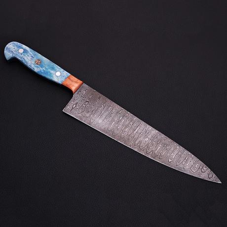 Damascus Kitchen Knife // 9066