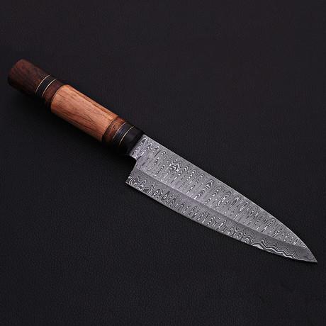 Damascus Kitchen Knife // 9058