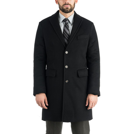 Pure Cashmere Slim Topcoat // Black (S)