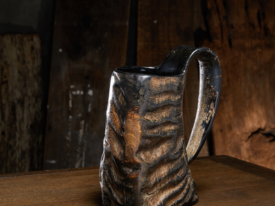 Photo of Nostos + Wolf  Game Of Thrones Inspired Barware  Vintage Horn Drinking Mug (American Pint - 16 oz) by Touch Of Modern