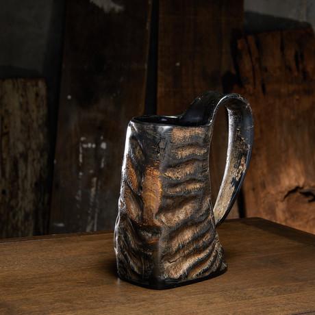 Vintage Horn Drinking Mug (American Pint - 16 oz)