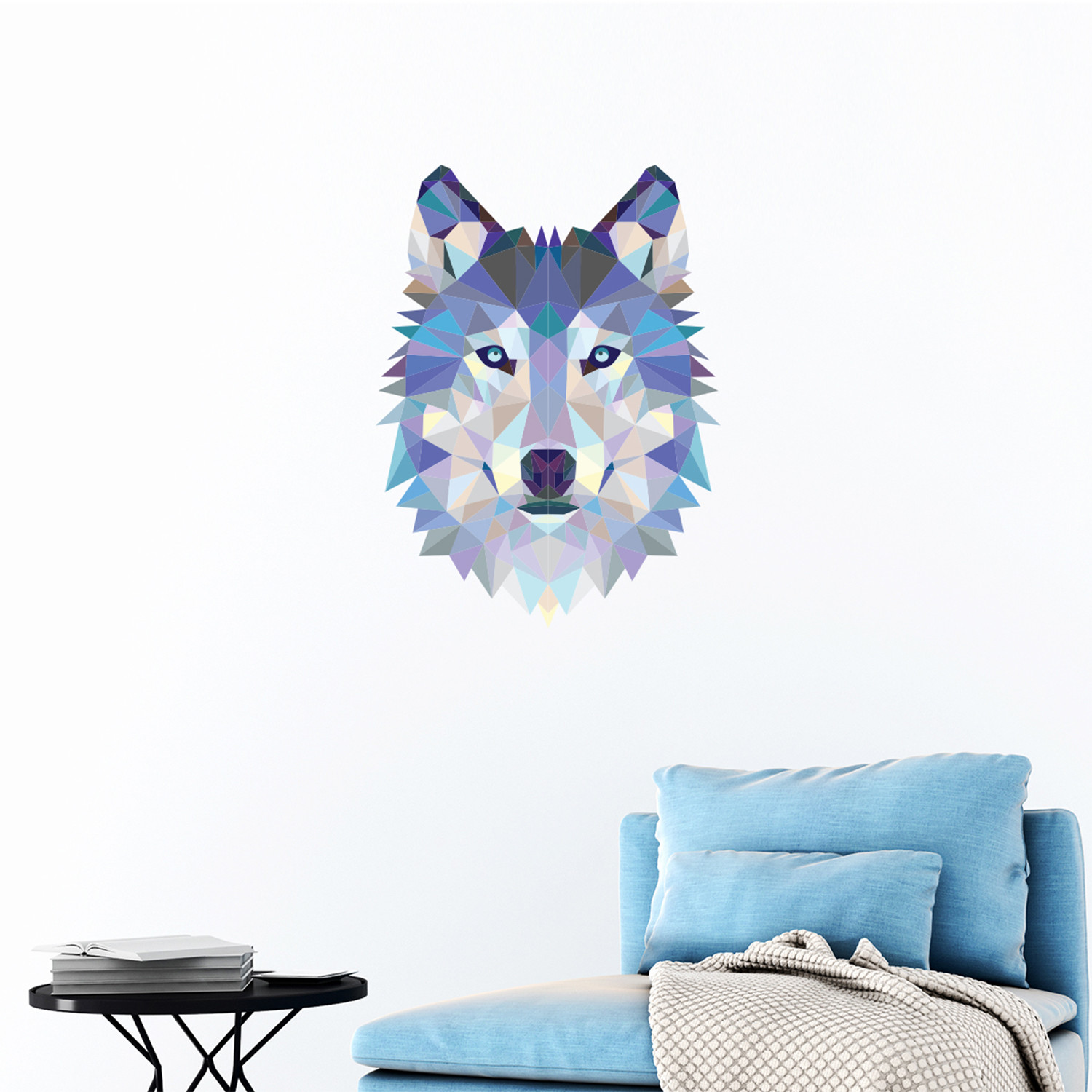 wolf face 3d decals touch of modern. Black Bedroom Furniture Sets. Home Design Ideas