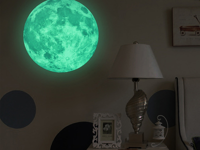 Photo of Ambiance Live 3D Wall Decals Glowing Moon by Touch Of Modern