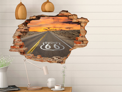 Ambiance Live 3D Wall Decals Road 66 by Touch Of Modern - Anniversary Gifts for Him