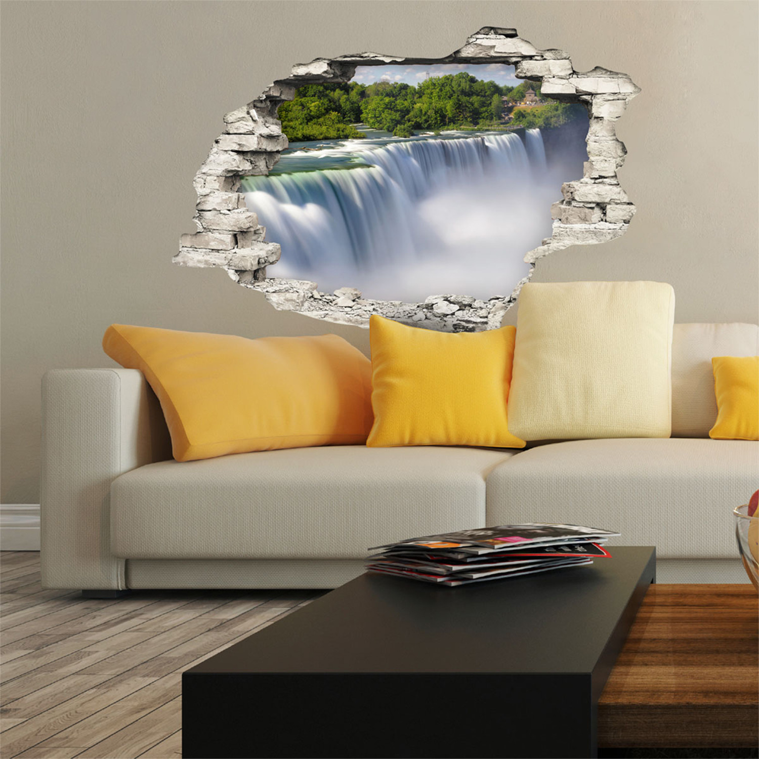 Niagara Falls - 3D Wall Decals - Touch of Modern