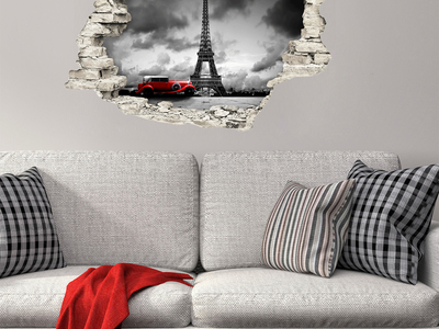 Photo of Ambiance Live 3D Wall Decals Magical Night in Paris by Touch Of Modern