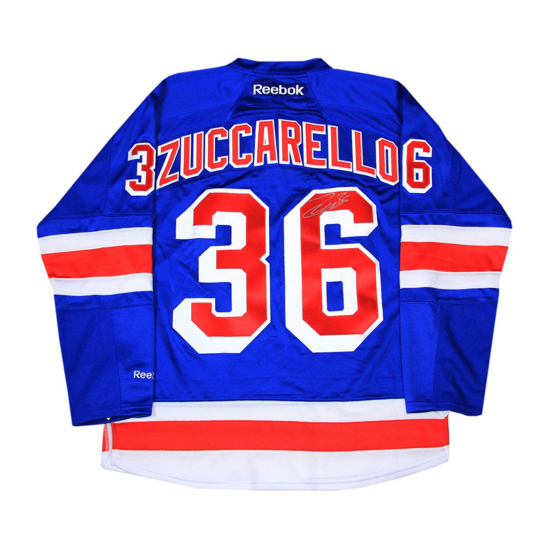 8d9db15b6ed877569228760bd4a592af medium · Mats Zuccarello Signed NY Rangers  Jersey a7afb0e03