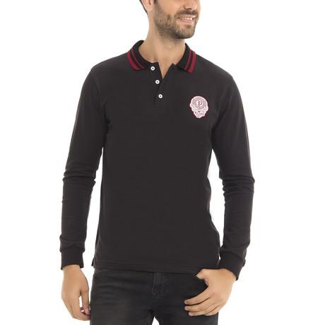 Long Sleeve Polo Shirt // Black (XS)